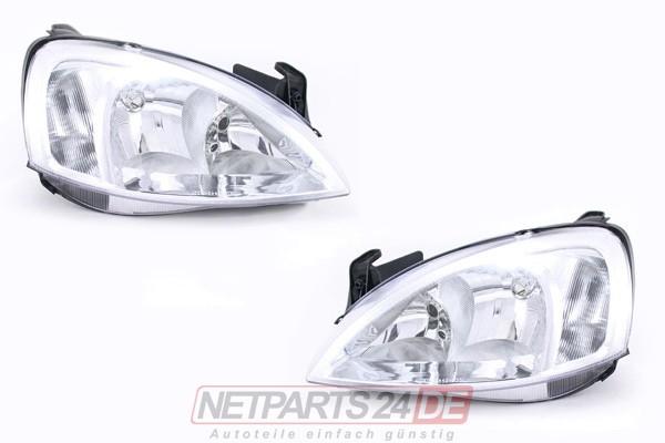 Scheinwerfer Satz H7/H7 links & rechts System AL Opel Corsa C 00-03