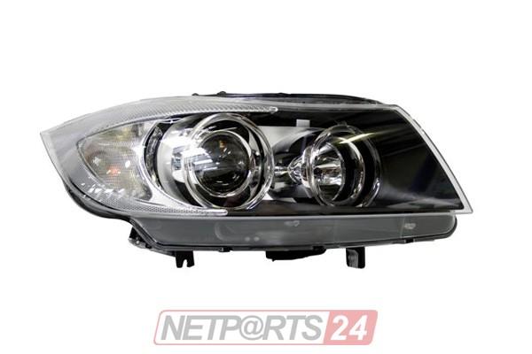 ZKW Scheinwerfer mit Kurvenl. rechts schwarz BMW 3 E91 05-08 Top Qualität
