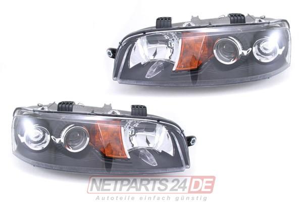 Scheinwerfer/Blinker Satz H1/H1 links und rechts Fiat Punto (188) NEU