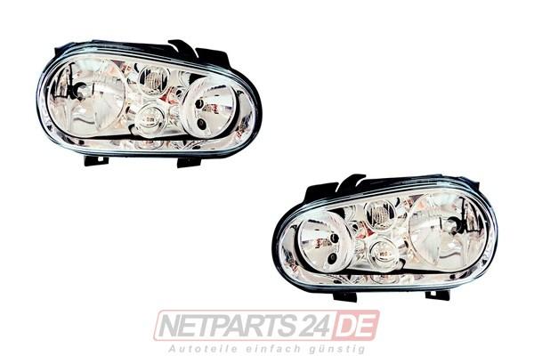 VW Golf IV 4 (1J1) Scheinwerfer Satz H7/H1 97-03 links & rechts
