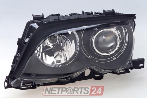 ZKW Scheinwerfer XENON/H7 links schwarz BMW 3 E46 01-05 Top Qualität