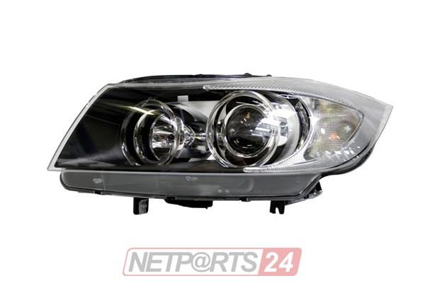 ZKW Scheinwerfer mit Kurvenl. links schwarz BMW 3 E91 05-08 Top Qualität